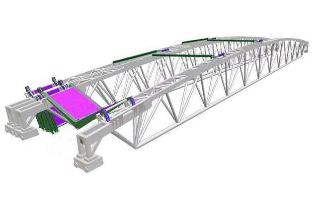 Rendering of a truss for the retractable roof at Wimbledon Centre Court