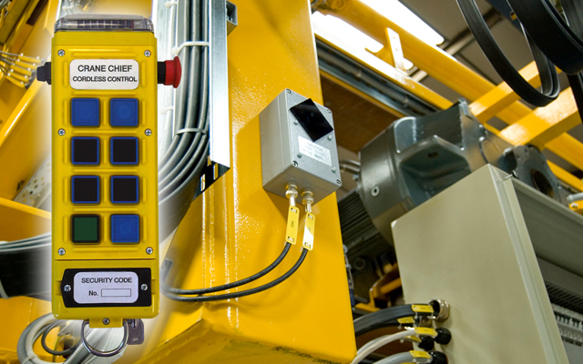 Infrared remote control for HMS Queen Elizabeth cranes