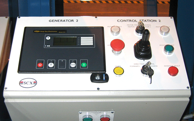 Control station for rapid access train