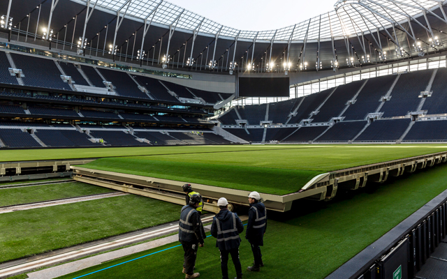 World First Dividing Retractable Pitch for Tottenham Hotspur